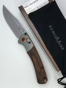 Benchmade-15085-2-Mini-Crooked-River-Plain-Clip-Point-30V-Blade-Stabilized-Wood