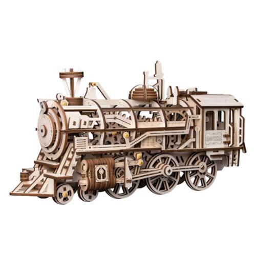 Meechanisch Ausrüstungen Lokomotive Rokr Beweglicher Holz 3d Zug Puzzle
