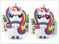 3D Unicorn Horse Colorful Silicone Phone Case Cover For Samsung Galaxy