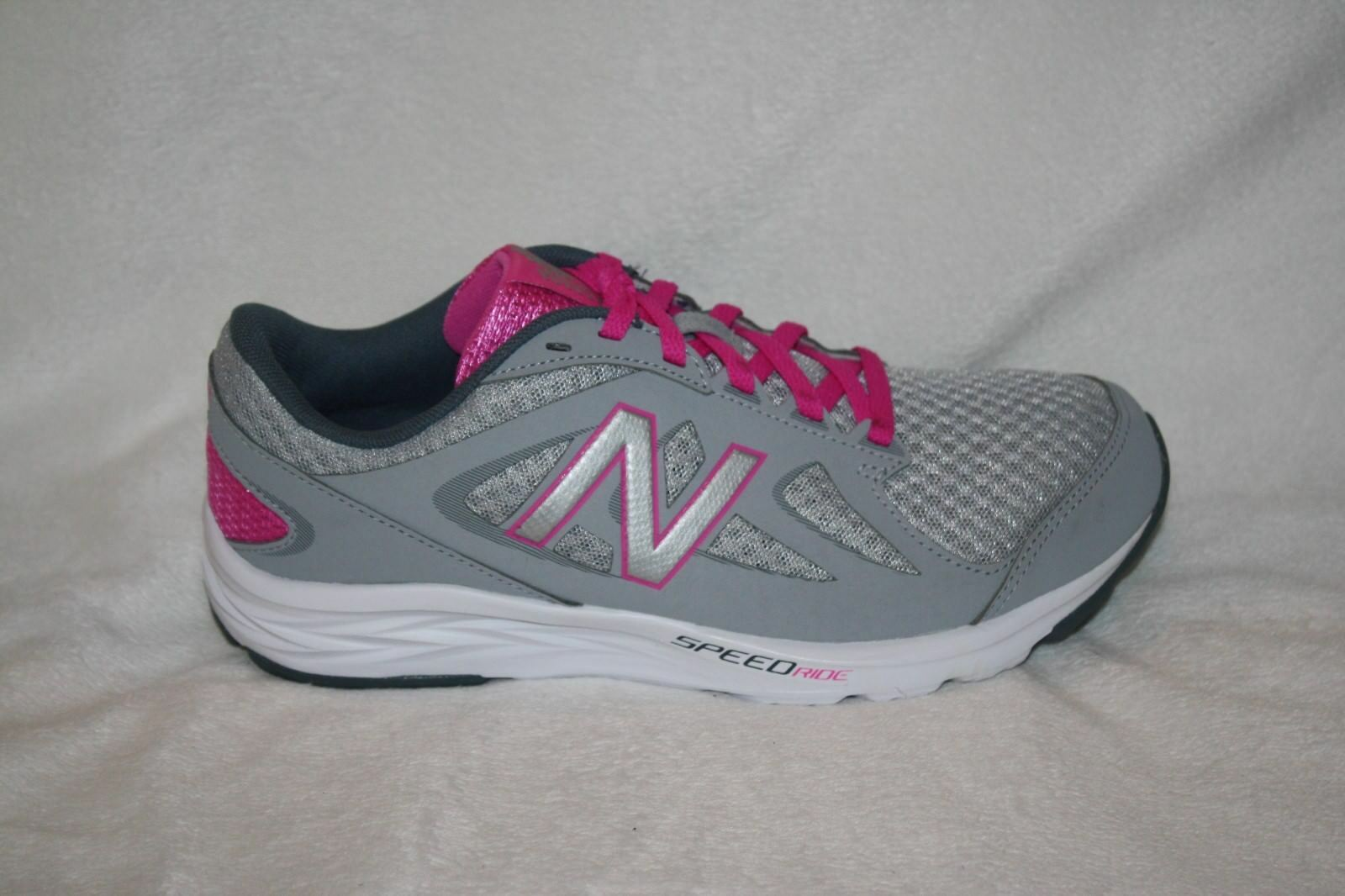 WOMENS NEW BALANCE SPEED RIDE 490V4 GRAY&PINK TENNIS SHOES WIDE-SEE SIZES (K40)
