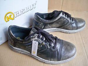 cuir Gr Loose à pour Insert hommes 40 Chaussure Gris 4985 Noir Krisbut lacets en qP5fIzzw