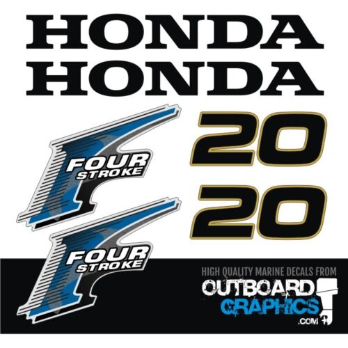 Honda BF20hp 4 stroke outboard engine decals//sticker kit