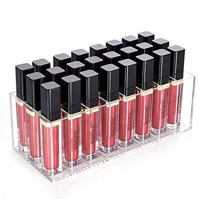 24 Fächer Lippenstift Halter Ständer Kosmetik Organizer Makeup Lipstick Display#