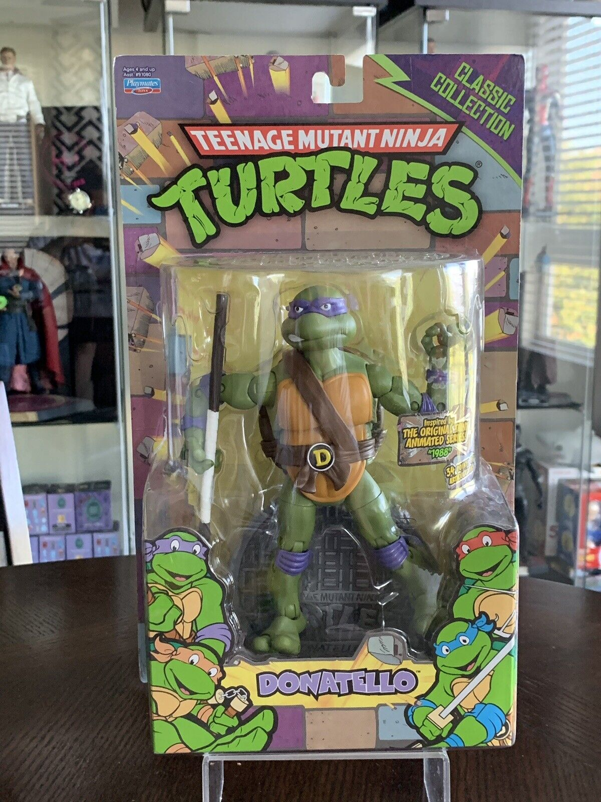 """TMNT Animated Series Playmates Classic Collection DONATELLO 6"""" Action Figure"""