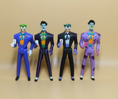 """LOT OF 4 DC UNIVERSE YOUNG JUSTICE JLU THE JOKER  ACTION FIGURE 4/""""  #S3"""