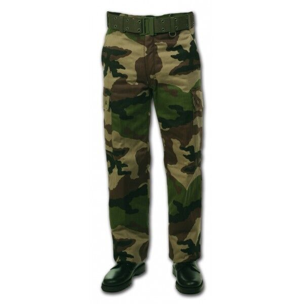 Army Pants Great Cold Lined in Polar Fleece T.48 Camo C E French Army