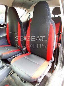 Super Details About Citroen C1 Car Seat Covers Anthracite Red Bolsters Theyellowbook Wood Chair Design Ideas Theyellowbookinfo