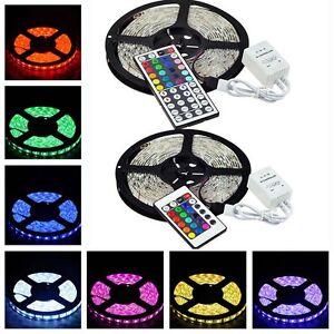 Waterproof-IP65-5M-RGB-300-LED-Strip-Rope-Light-5050-SMD-24-44-key-IR-Remote
