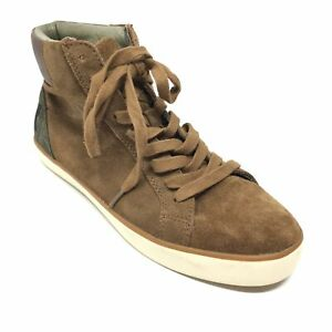 men's aldo high top fashion shoes sneakers size 8 m brown