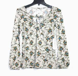 Royal-Robbins-Women-039-s-XS-NWT-58-Floral-Long-Sleeve-Organic-Cotton-Tee