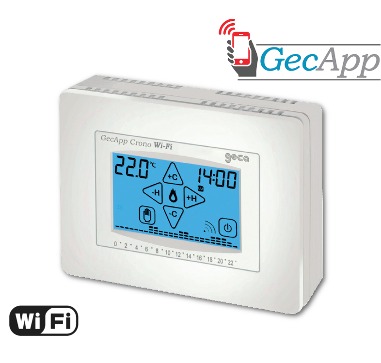 GECA GECAPP CRONOTERMOSTATO WI-FI 35262375 BIANCO TOUCH CON APP