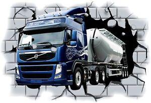 Huge-3D-Volvo-Truck-Crashing-through-wall-View-Wall-Sticker-Mural-Decal-Film-39