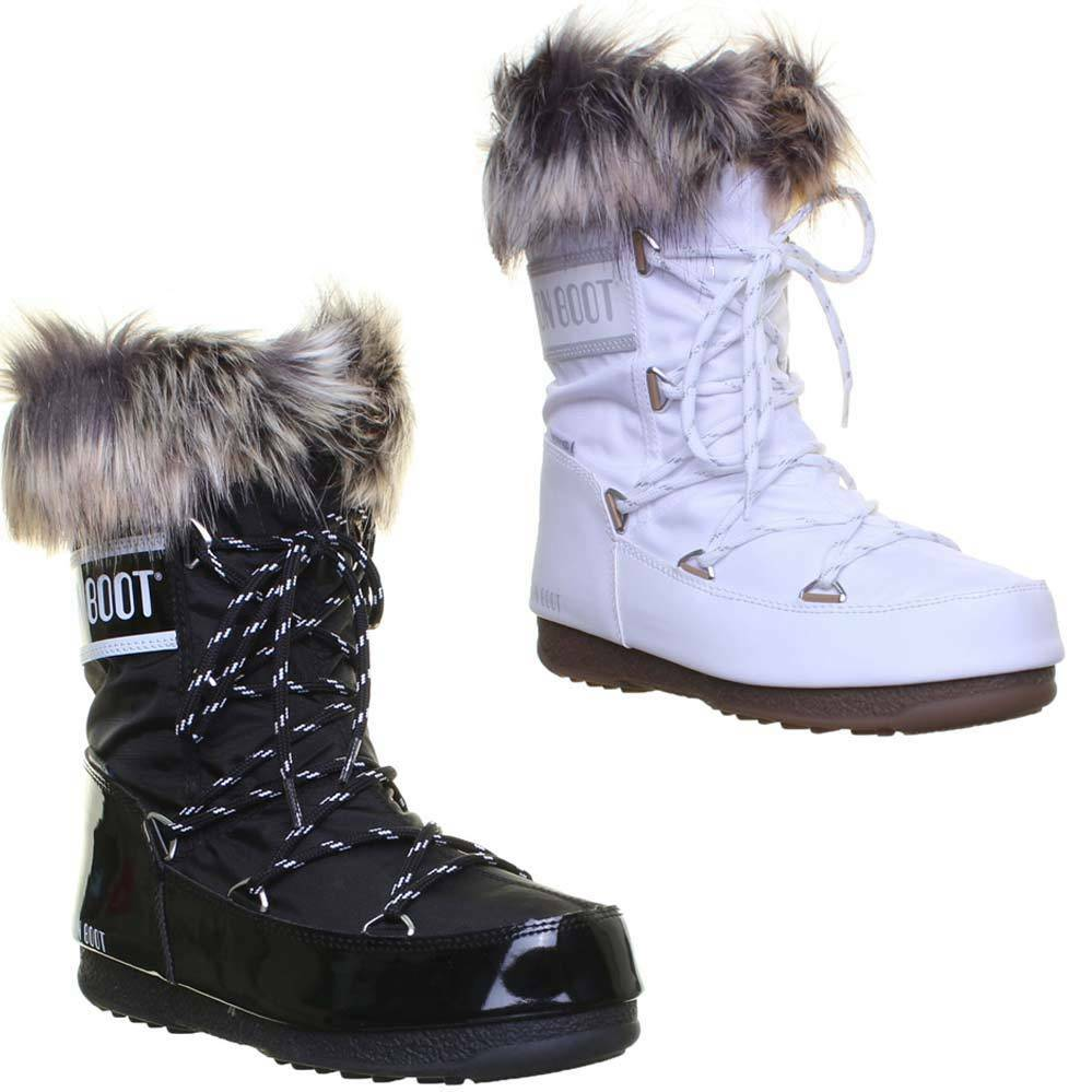 Moon Boot Monaco We Low Womens Faux Leather Boots UK Size 3 - 8