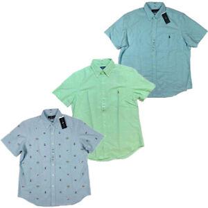 NWT-Polo-Ralph-Lauren-Men-039-s-Oxford-Button-Down-Short-Sleeve-Shirt-S-M-L-XL-XXL