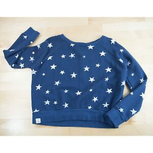 Polo Ralph Lauren Navy White Star Sweatshirt Top Shirt M 8-10