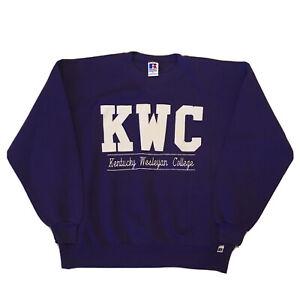 Vintage-90s-Sweatshirt-Kentucky-Wesleyan-University-Mens-Large-College-Pullover
