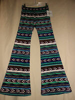 Wrangler Southwest Western Stretch Flare Bell Bottom Pants Hippie Disco 70s