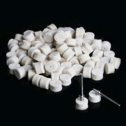100pcs 13mm Wool Felt Polishing Wheel Buffing Pad Set Tool For Rotary U0I5 E4F2