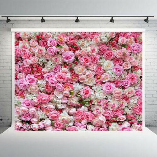 5x7ft Photography Background Fabric Flower Wall Photo Studio Props Backdrop
