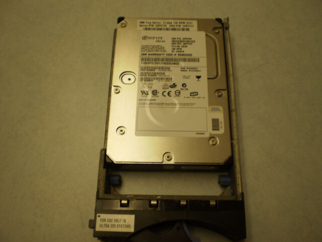 32P0735,32P0737,24P3730  IBM 73.4GB 15K ULTRA 320 SCSI HARD DRIVE