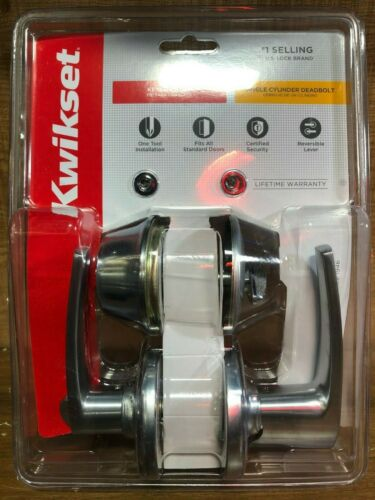 Kwikset Keyed Entry Single Cylinder DeadboltModel 690DL 26D CP