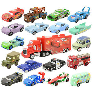Pixar-Cars-3-Diecast-Metal-NO-86-95-Lighting-Mcqueen-Frank-Harvester-Toys