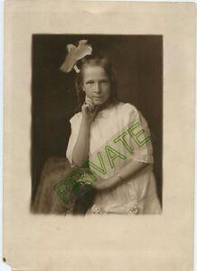 Antique Photo - St Paul Minnesota LYON Family Little Girl - Large Hair Bow, Brac
