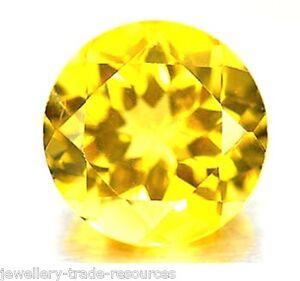 3 mm redondo Natural de Madeira Amarillo Citrina Gemas Piedras Preciosas