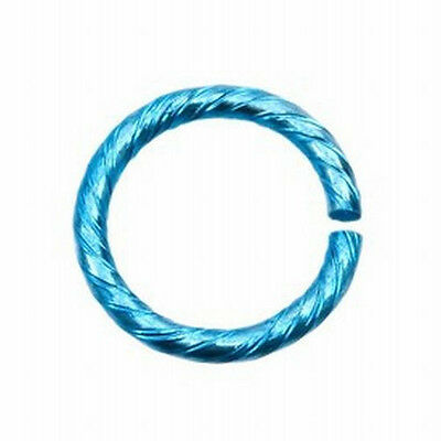 Jumpring Aluminum Twisted Open Jump Split Ring 1.8MM X 15MM Various Colors 4pcs