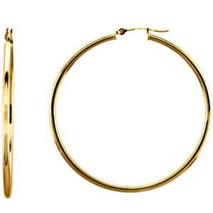 14-Karat-Yellow-Gold-Filled-2-2-Inch-55mm-Snap-Hoop-Earrings