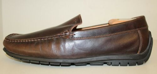 545 Hommes Moc Travail Ecco De 1111 Chaussures Mocassins Cuir Slip Toe Driving On Marron n0PX8kwNO