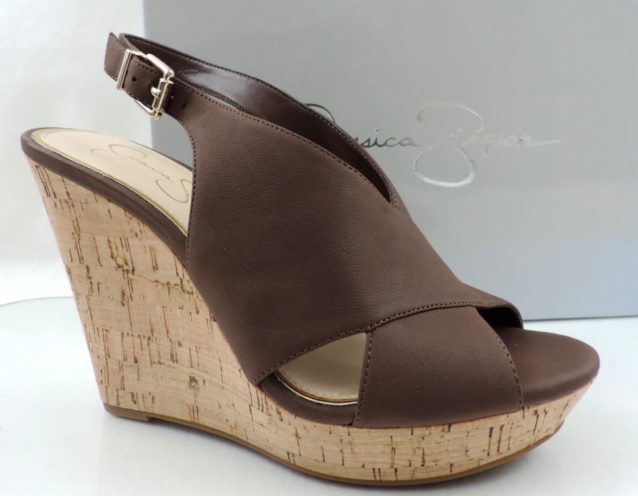 Womens Jessica Simpson Colavita Platform Wedge Heels sandals Brown Size 9.5