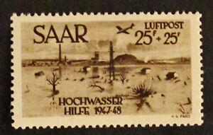 Briefmarke Saarland Deutschland / Yt Aériens 12 N Top Wassermelonen col7