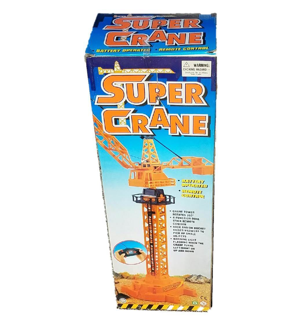 BATTERY OPERATED CONSTRUCTION SUPER CRANE TOY WITH rossoATING TOWER, WARNING LIGHT