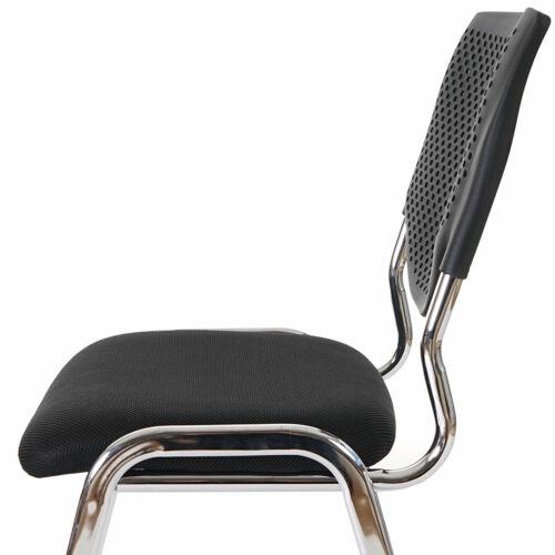 4x Besucherstuhl H401 Sitz schwarz Füße chrome Konferenzstuhl Textil