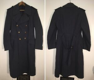 WW2-RCAF-Squadron-Leader-greatcoat-belted-wool-military-coat-Torchwood-Dr-Who