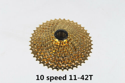 Sunshine 9 10 11 Speeds Gold MTB Mountain Bike Cassettes 11-32//36//42T Freewheel