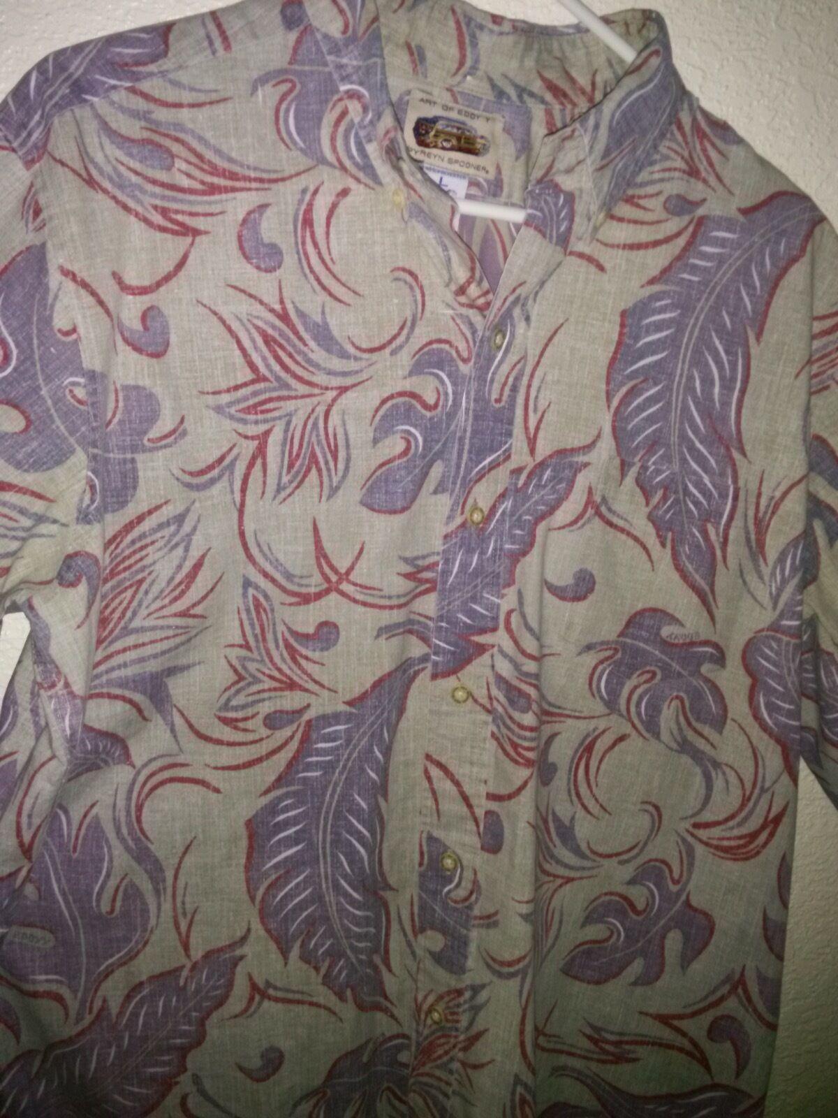 3db4ea72 Reyn Spooner ™ - 100% Cotton Camp Shirt Art of Eddy Y L P2P EUC 24.5