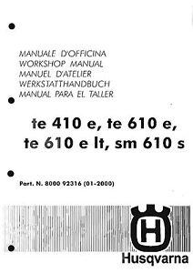 husqvarna workshop service manual 1998 1999 2000 te 410 e te rh ebay com husqvarna sm 610 service manual english husqvarna sm 610 service manual english
