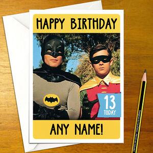 Batman personalised birthday card large a5 gotham joker robin image is loading batman personalised birthday card large a5 gotham joker bookmarktalkfo Gallery