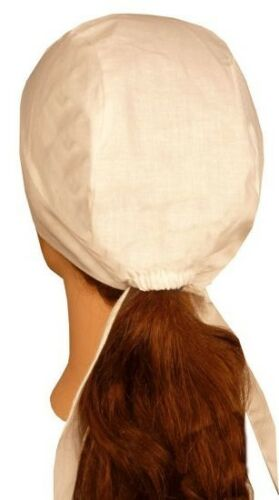 Surgical Chemo Skull Cap White with elastic and Tie back 200