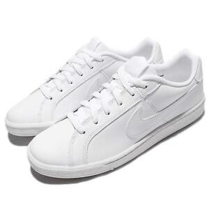 Nike Court Royale Triple White Leather Men Casual Shoes Sneakers ... 726ec75dbd6d2