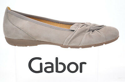 GABOR Schuhe Damenschuhe Modische Ballerina kiesel beige Leder NEU 84.150.12 | eBay