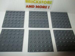 Plate Plaque 6x6 3958 Old Dark gray//gris//grau Choose Quantity Lego
