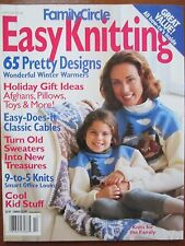Easy Knitting Magazine 97/98 Holiday Santa Cap Stocking 65 Designs Cables Pillow