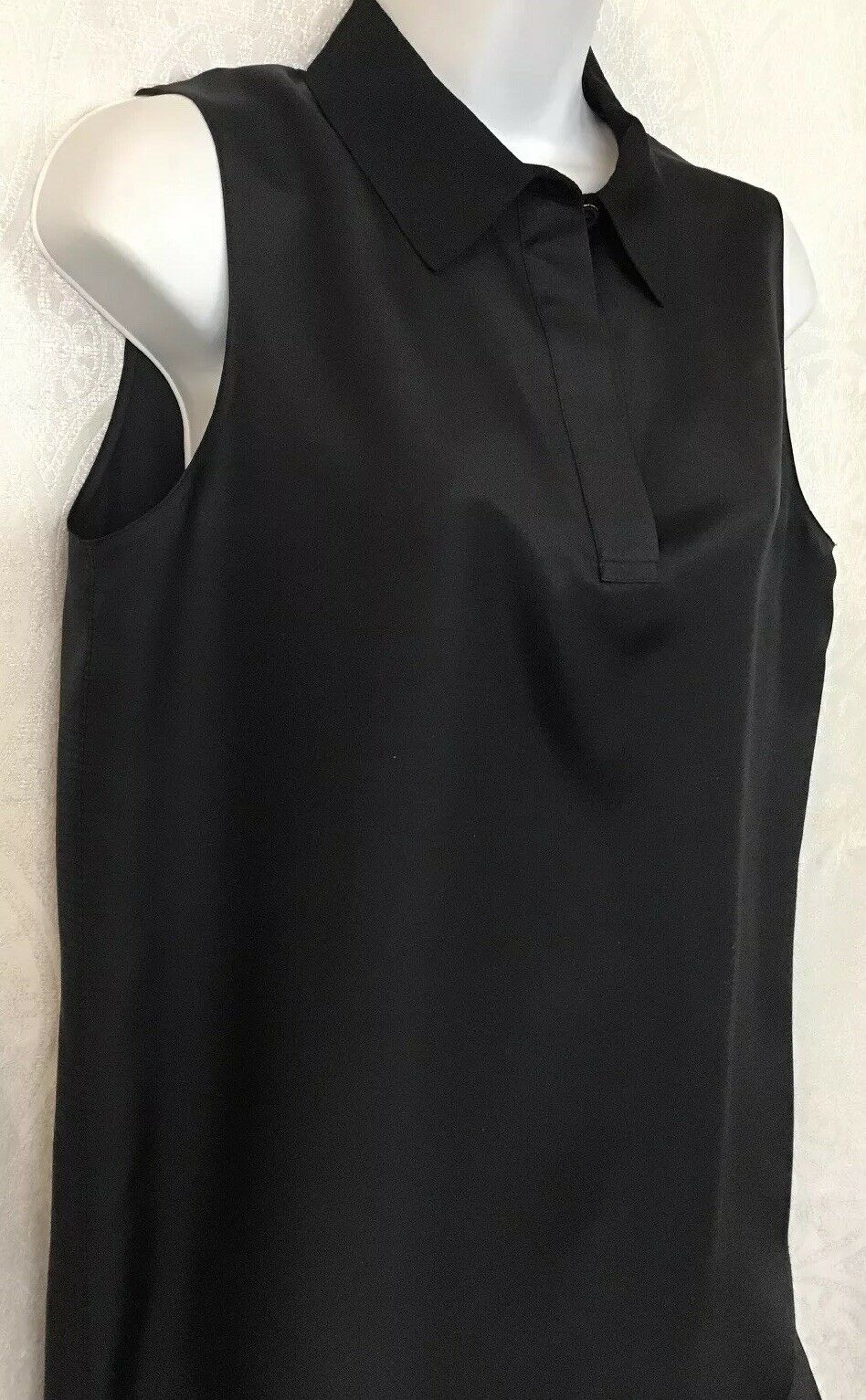 Rag And Bone Blouse Black Silk Sleeveless Three B… - image 2
