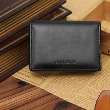 Mens  Mini Purse Money Clip Genuine Leather Wallet Bifold ID Credit Card Holder