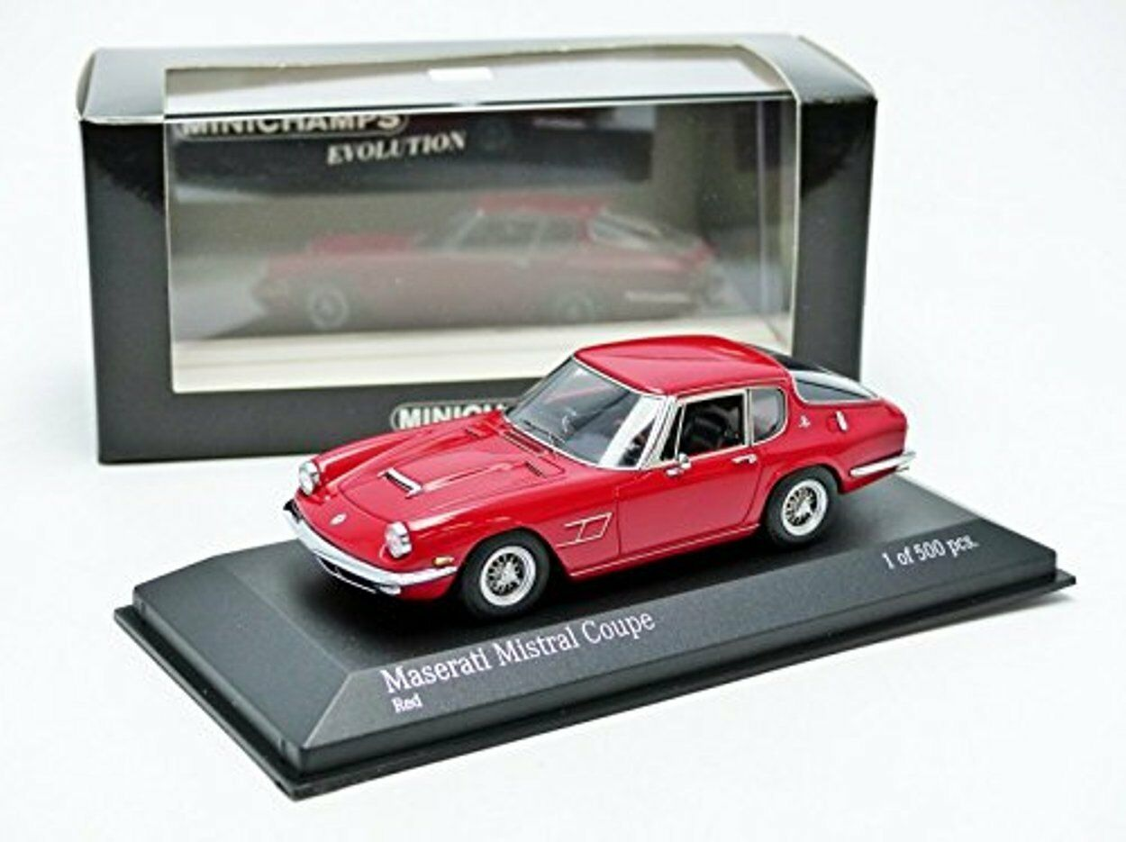 MASERATI MISTRAL COUPE 1963 SPYDER RED MINICHAMPS 437123424 1 43 red red red