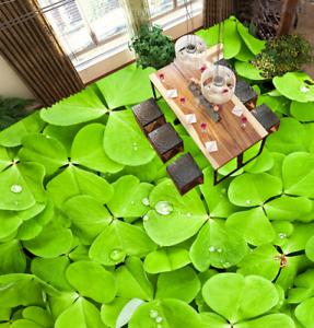 3D verde Tréboles Papel Pintado Mural Parojo Impresión de suelo 543 5D AJ Wallpaper Reino Unido Limón