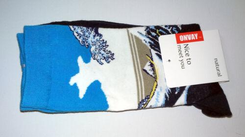 Art Chaussettes HOKUSAI Grande Vague Kanagawa Femmes Homme Cheville Haute Motif tissé cadeau